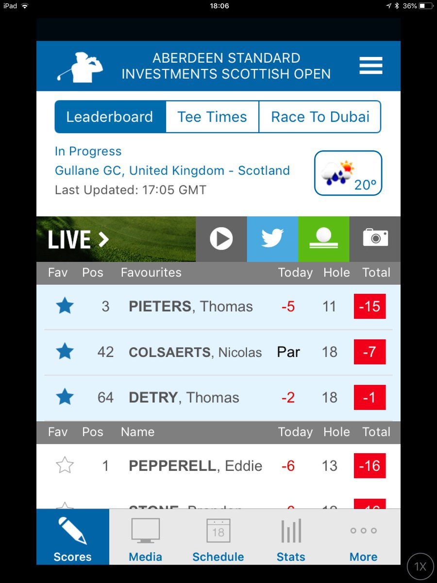 1 slag van de leiding nu ! Go ⁦<strong>@Thomas_Pieters</strong>⁩ https://t.co/PC7wk4fRLE