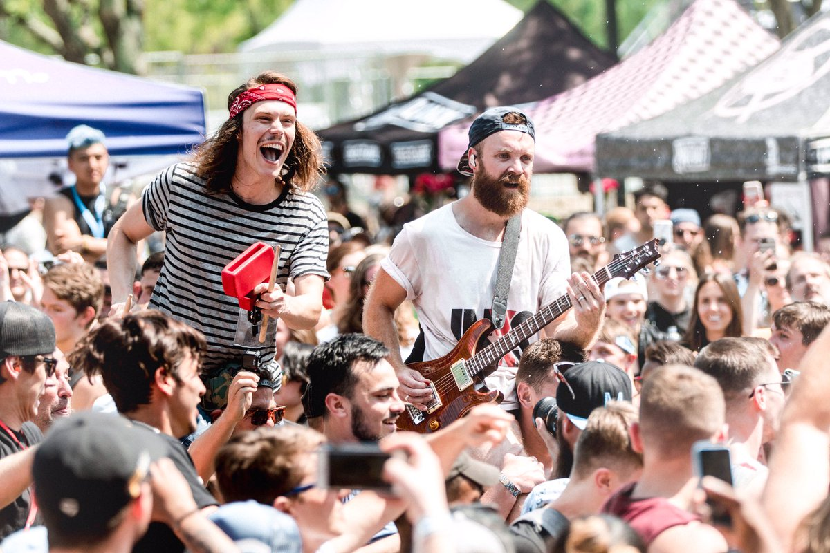 Music conjures up many emotions   Hartford we close the  http:// OWLY.FM  &nbsp;   today at 7pm  signing at 3:20 at our merch tent <br>http://pic.twitter.com/eU9fY0tMSi