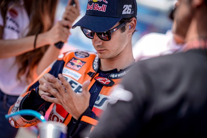 """""""It was a disappointing race because this is a track where I've always been faster, but we've been struggling all weekend with the bike setup. We managed to improve here and there but I was not fast enough."""" #DP26 P8 @MotoGP #GermanGP Foto"""