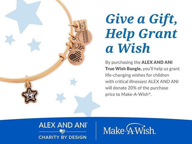 Who wouldn't love to receive a special piece of jewelry for graduation, a birthday or other occasion? This bangle from @alexandani is an accessory that you can feel extra good about, because for every bangle sold, 20% goes to Make-A-Wish. Learn more at a… https://t.co/ewFD5Xk856