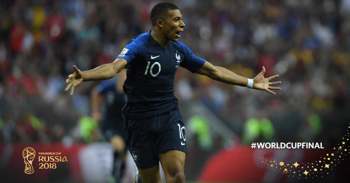 Teenagers to score in a #WorldCupFinal   * Pele * Kylian Mbappe   That is all.