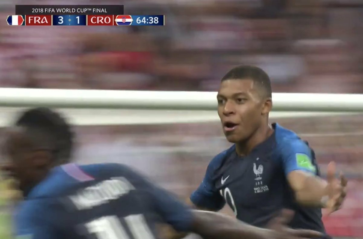 Majestic Mbappe , the 2nd teenager after the great Pele to score in a #WorldCupFinal