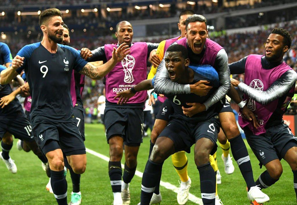 【ロシアW杯決勝】フランスが20年ぶり2回目のW杯制覇!  🇫🇷フランス 4-2 クロアチア🇭🇷  デシャン監督は史上3人目となる選手・監督双方での優勝を達成。最後まで粘り続けたクロアチア、初優勝の夢かなわず(写真:ゲッティ)