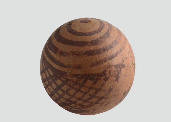 5000 Years Old Ball Made From Terracotta , Indus Valley Civilization   ( Photo - National Museum Delhi ) <br>http://pic.twitter.com/m3RPffUofk