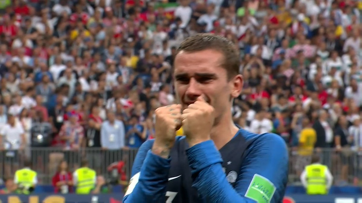 Raw emotion. #WorldCupFinal  #FRA <br>http://pic.twitter.com/On1y3bXmh1
