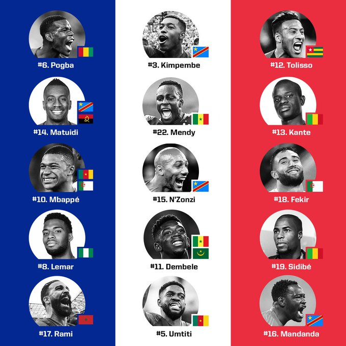 France just won the #WorldCup, but so did Cameroon, Angola, Nigeria, the DRC, Mali, and Guinea and Senegal. The Cup may have never before belonged to so much of the world. Foto