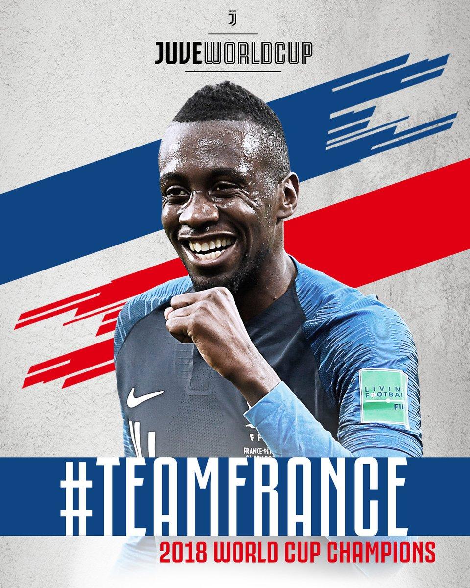 Il #TeamFrance di @MATUIDIBlaise è campione del mondo!  🇫🇷 Ti aspettiamo, CAMPIONE! ❤️👏 #JuveWorldCup #WorldCup