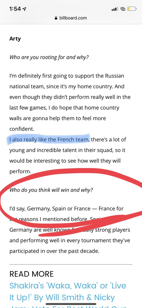 My interview to a @billboard before the World Cup 😅😅 https://t.co/tBF3jirkQM