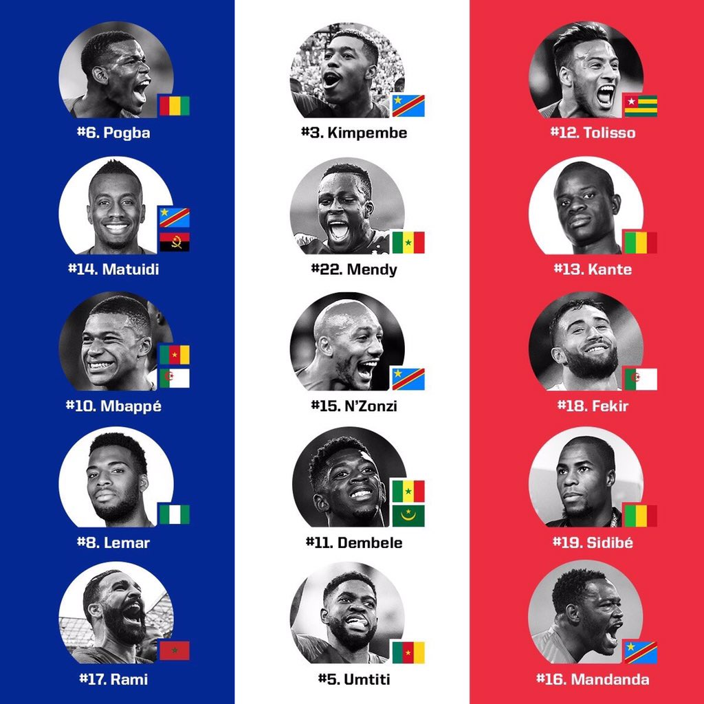 Congrats to France, but more importantly, CONGRATS TO AFRICA!! ✨💎🌍✊🏾 Kids of immigrants who believed in their dreams! Lets respect the value we add both on and off the field!