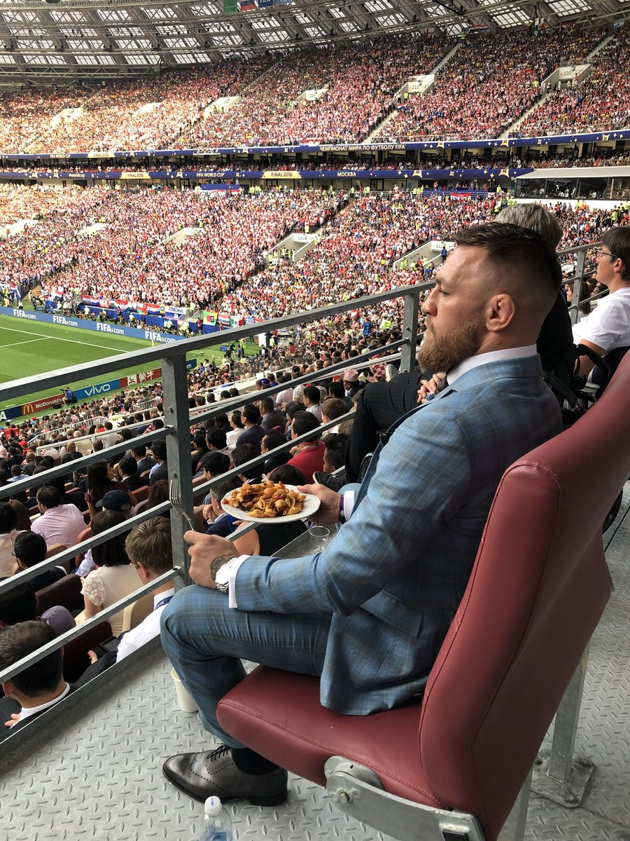 Enjoying the World Cup final in Russia.  A truly amazing spectacle!