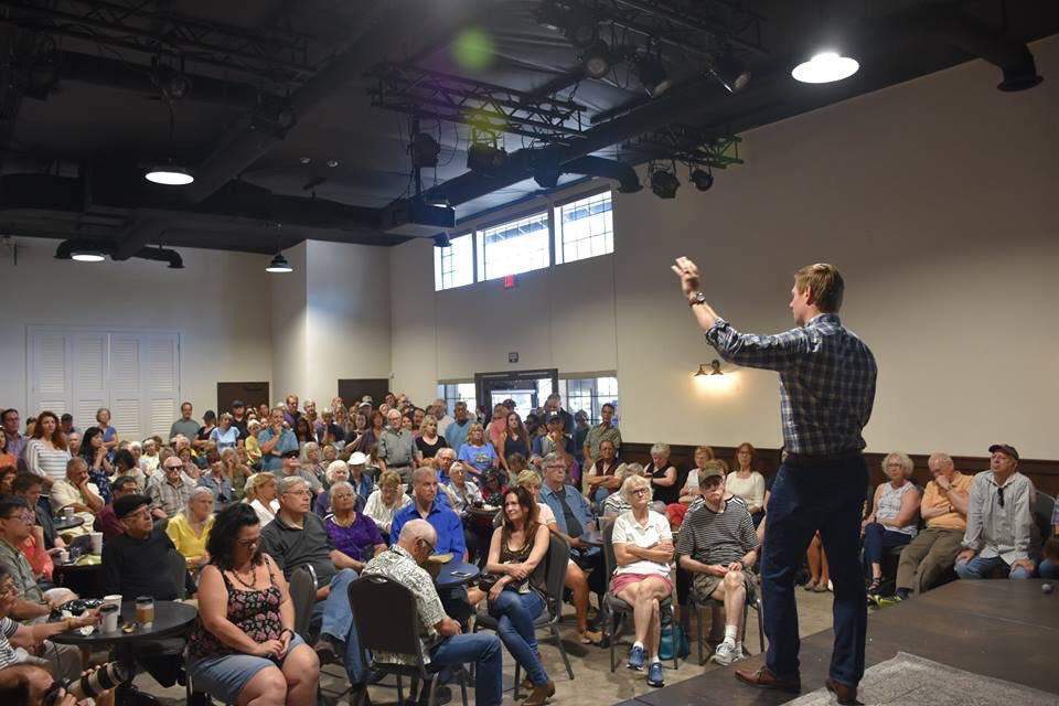 """Im bowled over by how many people packed into our #CA15 """"Expresso Yourself"""" coffee meeting yesterday. (Dont worry, well have a bigger space for our regular town hall next month!) Thanks for your great questions. I hear your concerns, and Ill never stop fighting for you."""