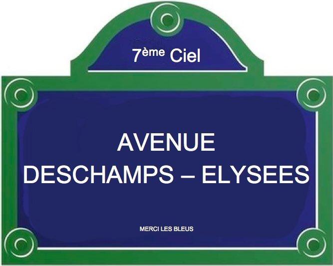 Les Champs-Élysées rebaptisés après la victoire des Bleus !  via @gioteam34