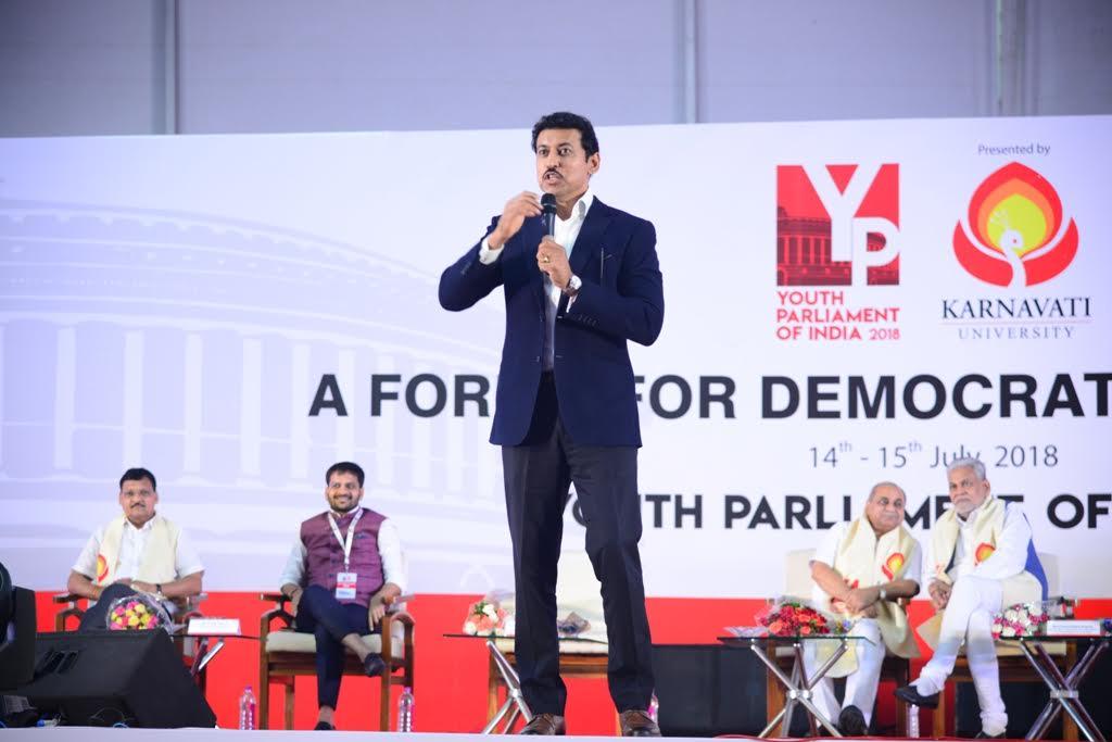 Valedictory of Youth Parliament of India 2018 at Karnavati University