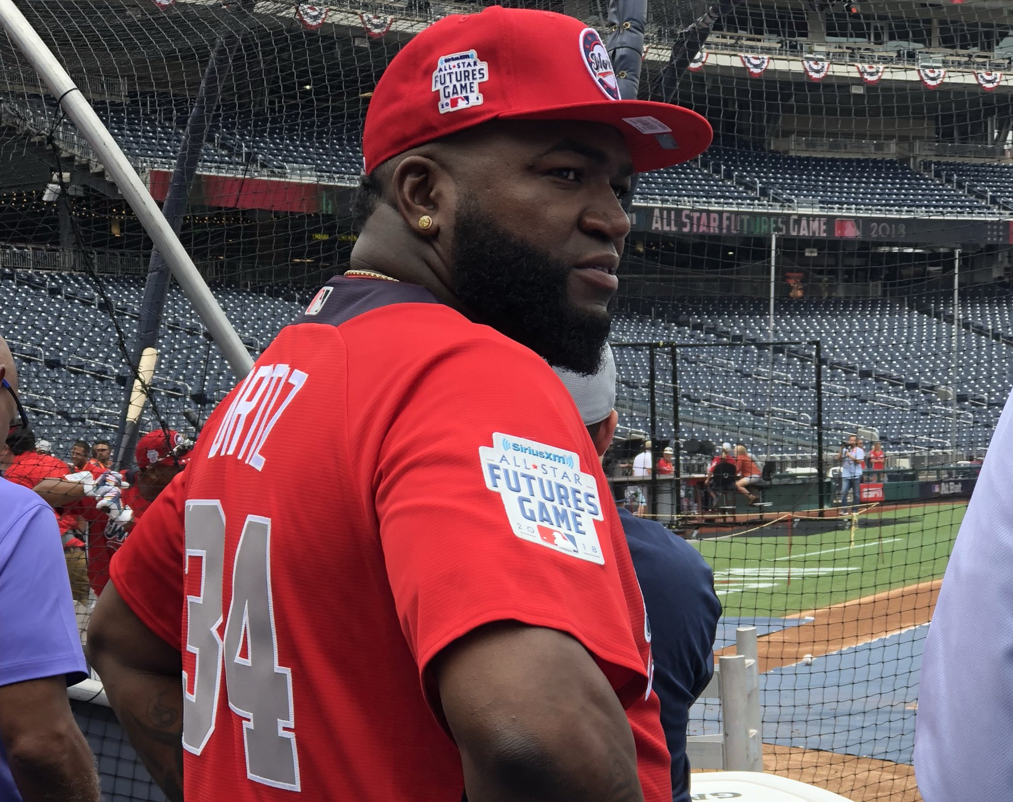 34 in red. Managing (not playing) for the World Team today. #FuturesGame https://t.co/fJTKfO94J0