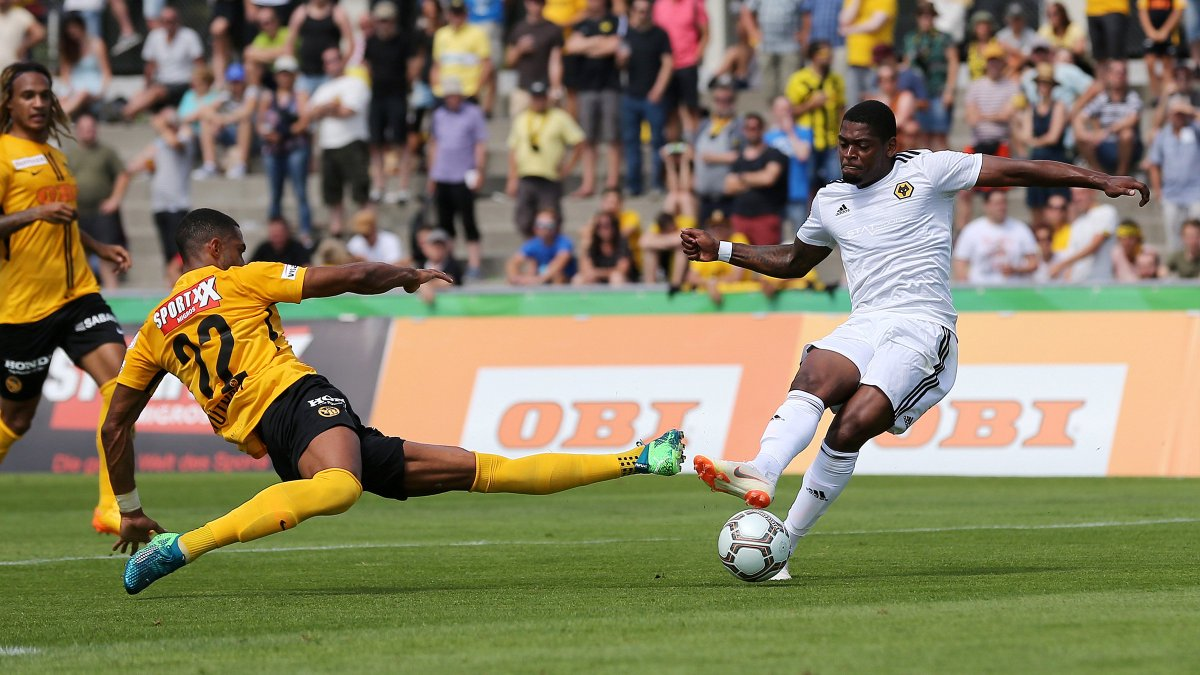 .@Ivancavaleiro17 nets Wolves first goal against @BSC_YB in the 4-0 @Uhrencup win on Saturday. ⚽️🔥