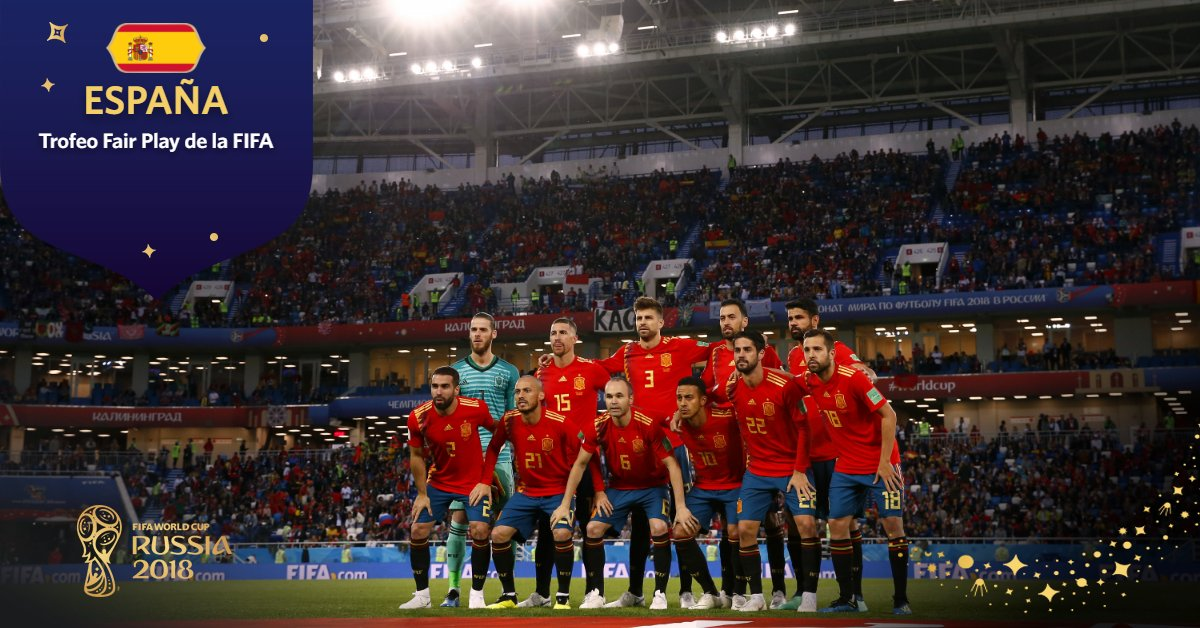 Trofeo Fair Play de la FIFA 🥇España (#ESP) #Rusia2018