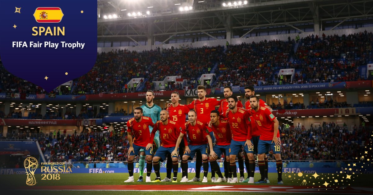 FIFA Fair Play Trophy:   🥇Spain (#ESP)   #WorldCup