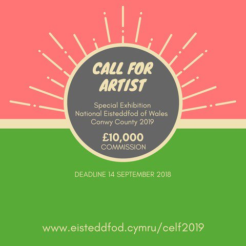 Hey, you creative people who work in all kinds of media! Would you like to create the @Eisteddfod_eng special exhibition at Y Lle Celf in Llanrwst next year? We are calling for expressions of interest – see  https:// bit.ly/2Jqb2JM  &nbsp;  <br>http://pic.twitter.com/JGzWcQfrIY