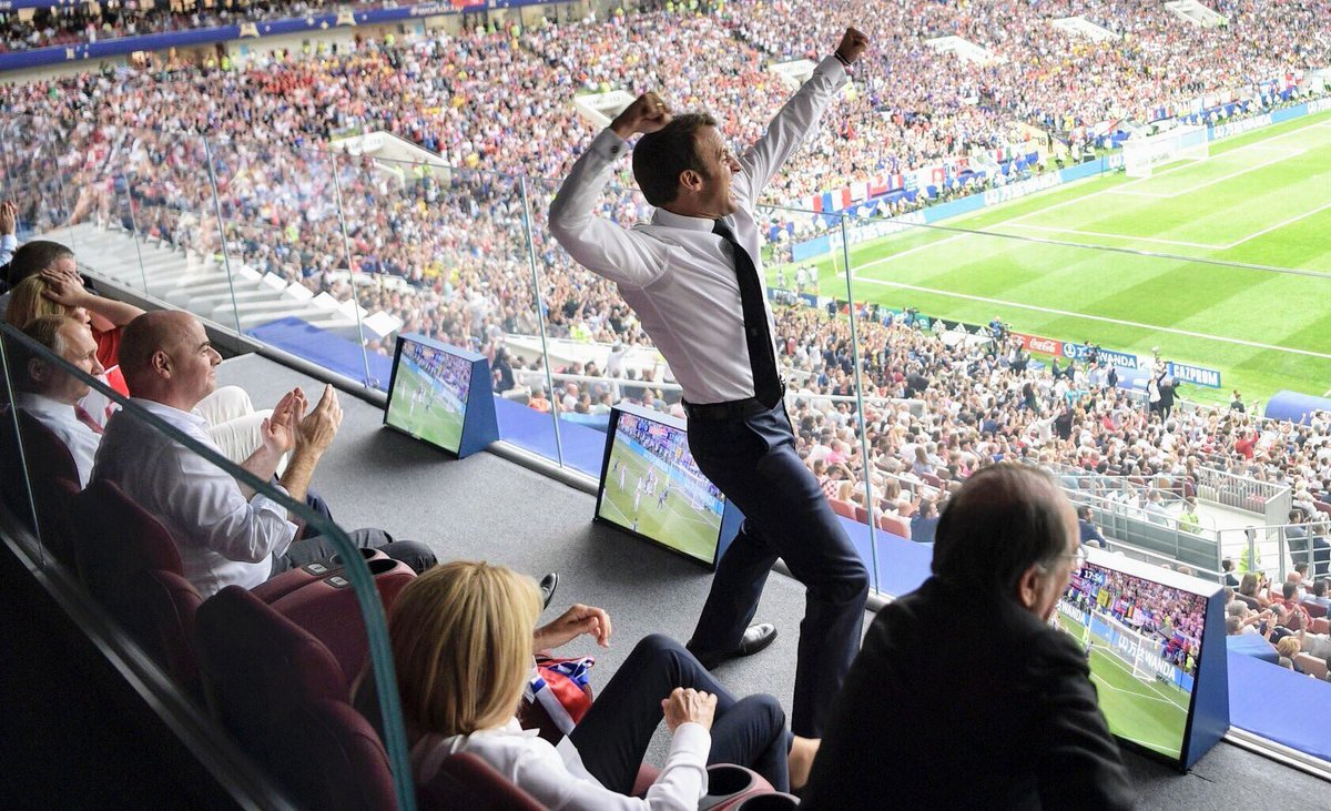 Amazing @EmmanuelMacron and all of 🇫🇷🇫🇷 what a team!!!