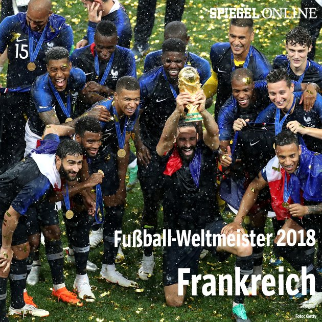 Gratulation zum WM-Titel 2018 und zum Vorrundenaus 2022, Frankreich!