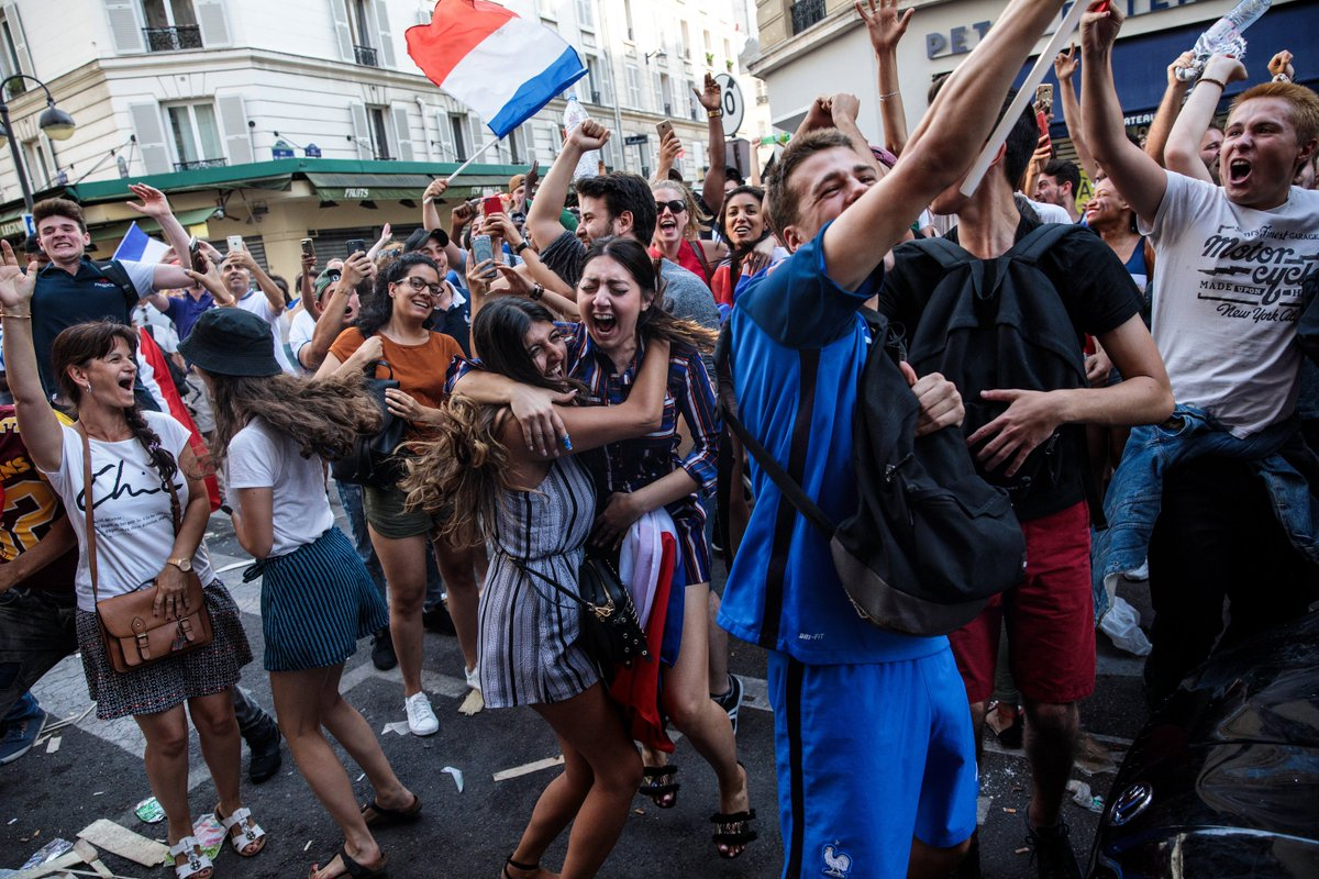 Celebrations in Paris after France's World Cup victory 🇫🇷🏆🎉  (📸: Getty Images)