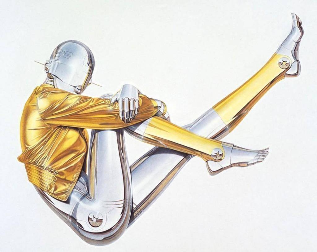 Hajime Sorayama (空山 基 , born February 22, 1947) is a Japanese illustrator known for his precisely detailed, erotic portrayals of feminized, biomechanoid robots, and his design work on the original Sony AIBO robotic &quot;pet&quot;. <br>http://pic.twitter.com/NqCrbVxBgH