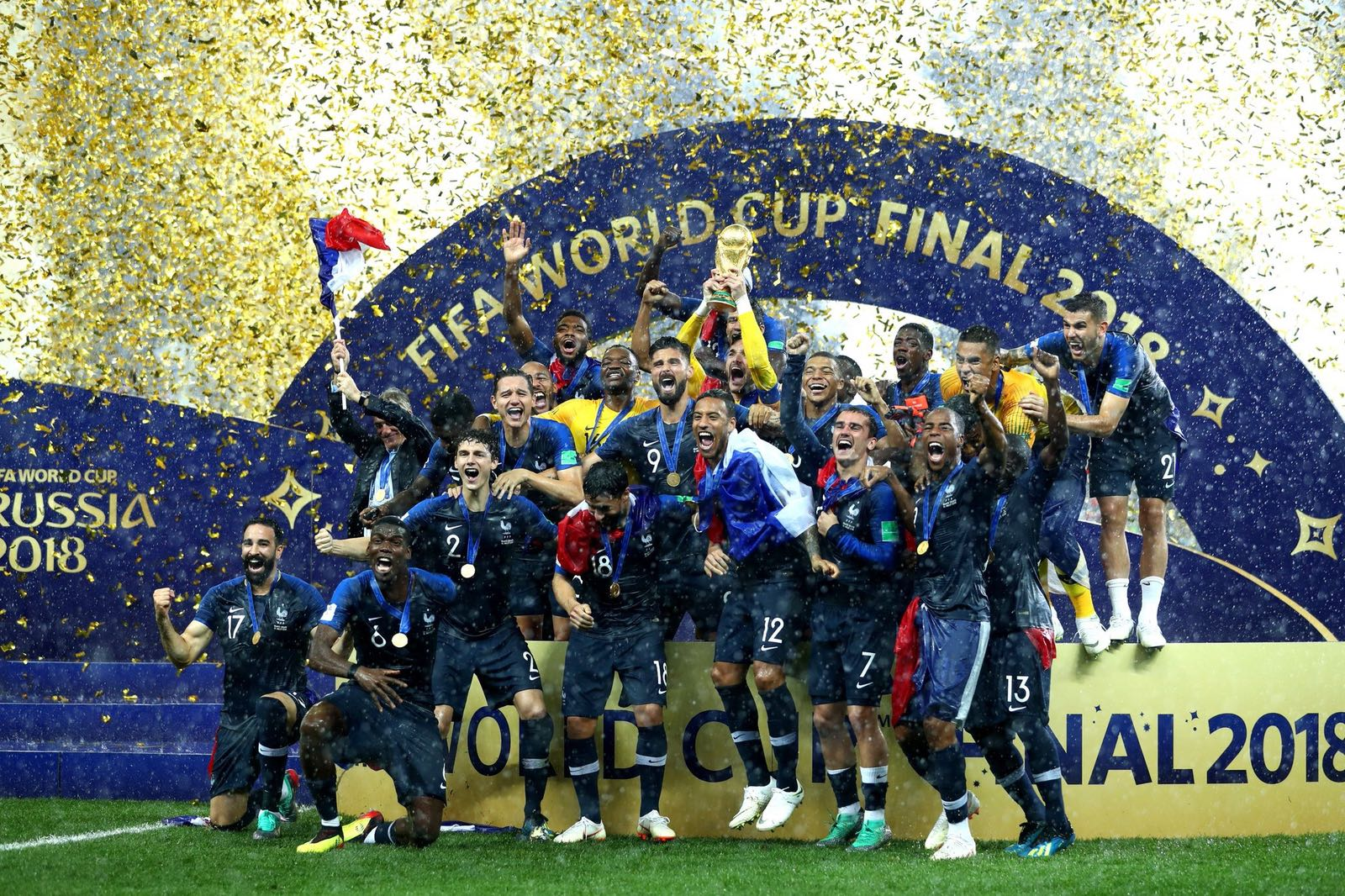 CHAMPIONS DU MONDE. Vive la France ����⭐⭐ https://t.co/YI3bGeHr5e