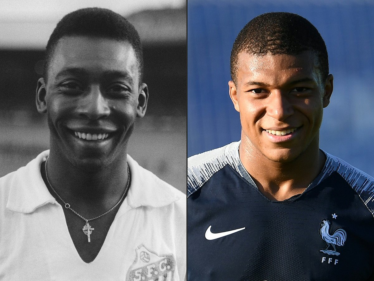 Pelé: 'Welcome to the club, Kylian Mbappé - it's great to have some company!'