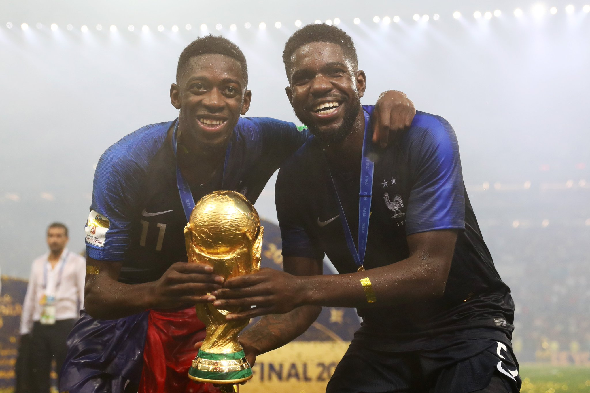 �� #WorldCup winners! �� @Dembouz & @samumtiti ���� #BarçaWorldCup https://t.co/TocLLOG9zd