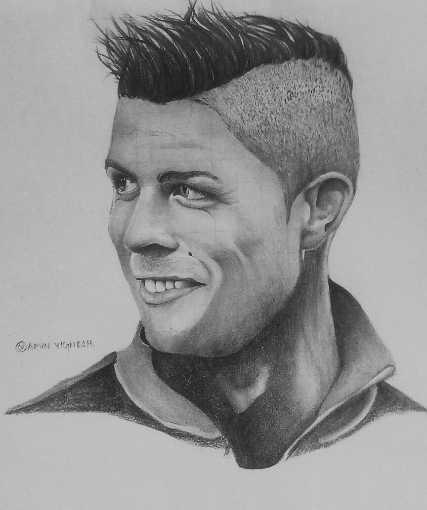 Arun vignesh on twitter pencil sketch of cristiano football
