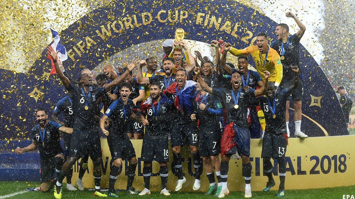 Вот и закончился чемпионат! Поздравляем победителей! 👏  🥇 – сборная Франции 🥈 – сборная Хорватии 🥉 – сборная Бельгии!   Благодарим ещё раз нашу российскую сборную за красивый футбол! 🇷🇺