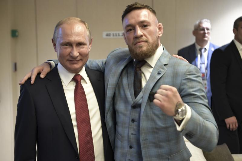 Conor McGregor praises Putin, calls him 'one of the greatest leaders of our time'  https://t.co/CUn6K6n9nA