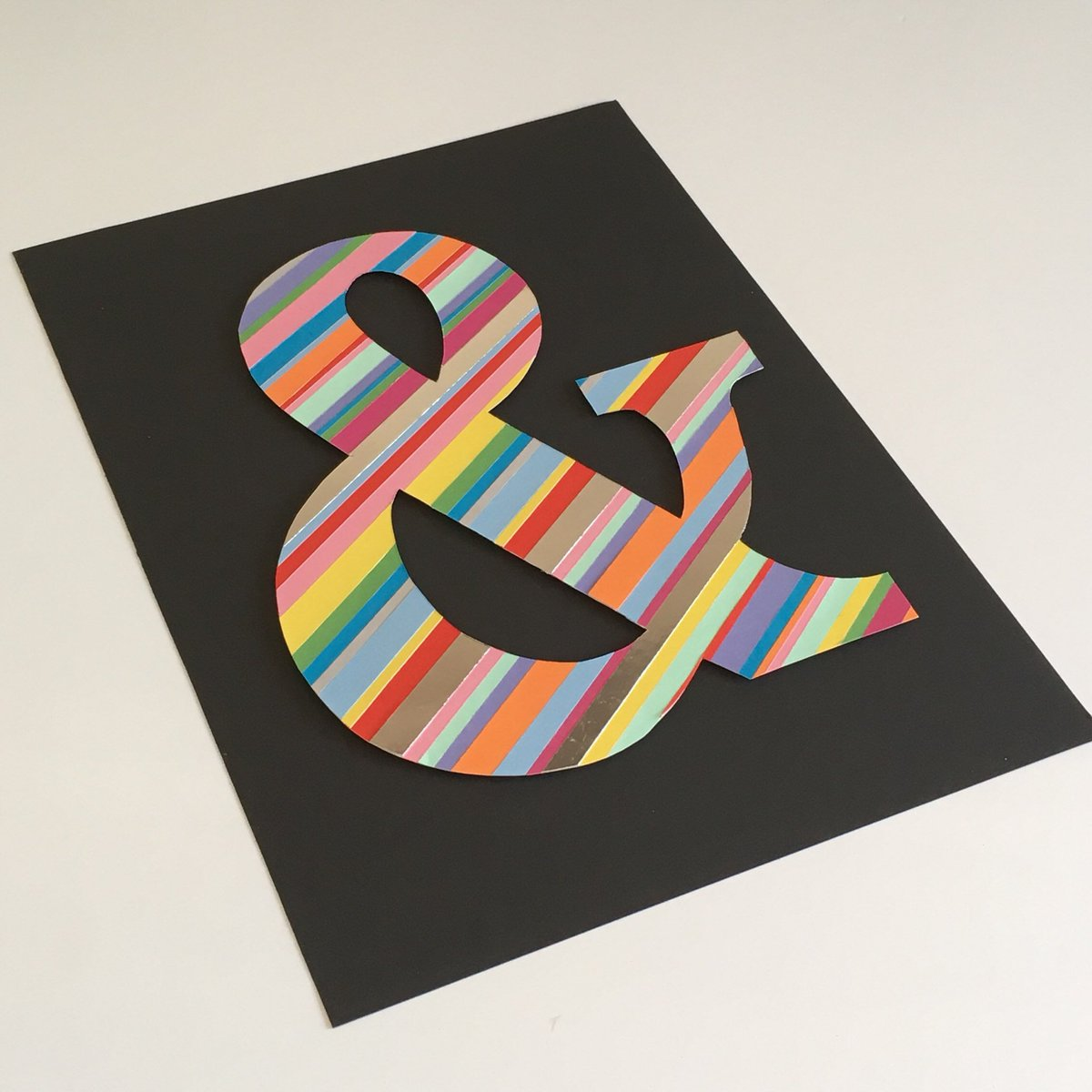 For anyone who love typography and rainbows, this giant ampersand is latest addition to my #etsy shop. #HandmadeHour  https:// etsy.me/2LgWTjH  &nbsp;  <br>http://pic.twitter.com/4VWKOvBS2I