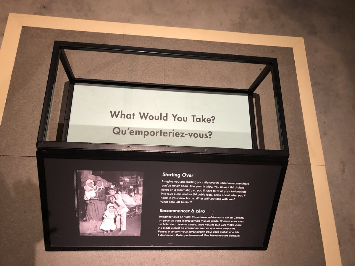 Great Historical #criticalthinking question @SciTechMuseum : imagine starting life over in 1900. You can only take things that would fit in the box on the steamship. What would you take with you? What criteria would you use?<br>http://pic.twitter.com/ASoYxfvwfw