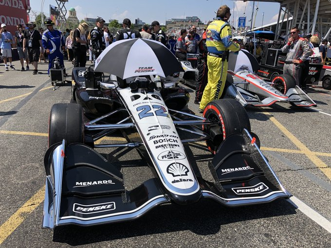 On the grid and ready to go from #IndyTO! Who's ready to get this race underway? #INDYCAR Photo