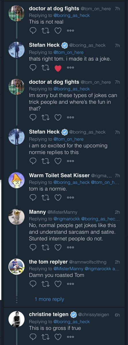 The Dangers Of Being Funny On The Internet, episode 1337, starring @boring_as_heck
