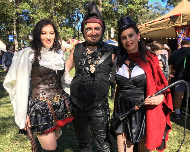 #Cosplay Awesome of the Day: #Steampunk ⚙️ Cosplayers 🎩 at @AbbeyTournament in #Caboolture #Queensland 🇦🇺 via @oworldfashion #SamaCosplay