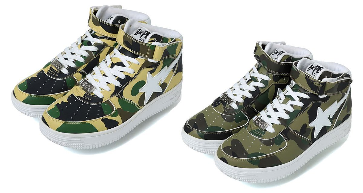 101625481538 A Bathing Ape s  1st Camo  Bapesta Mid has returned https   t