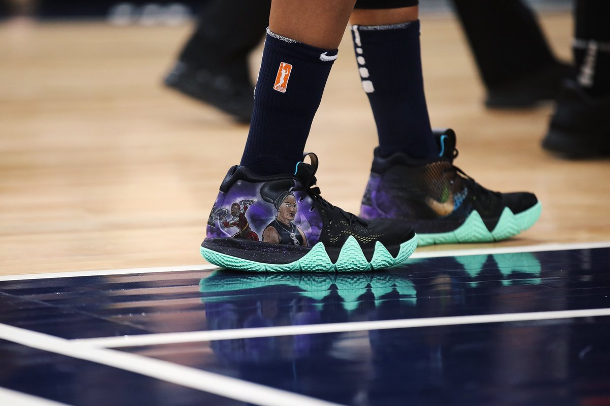 5e54fe2027c ... closeout seimoneaugustus wearing the black panther custom nike kyrie 4  by 9ad4b dbac1