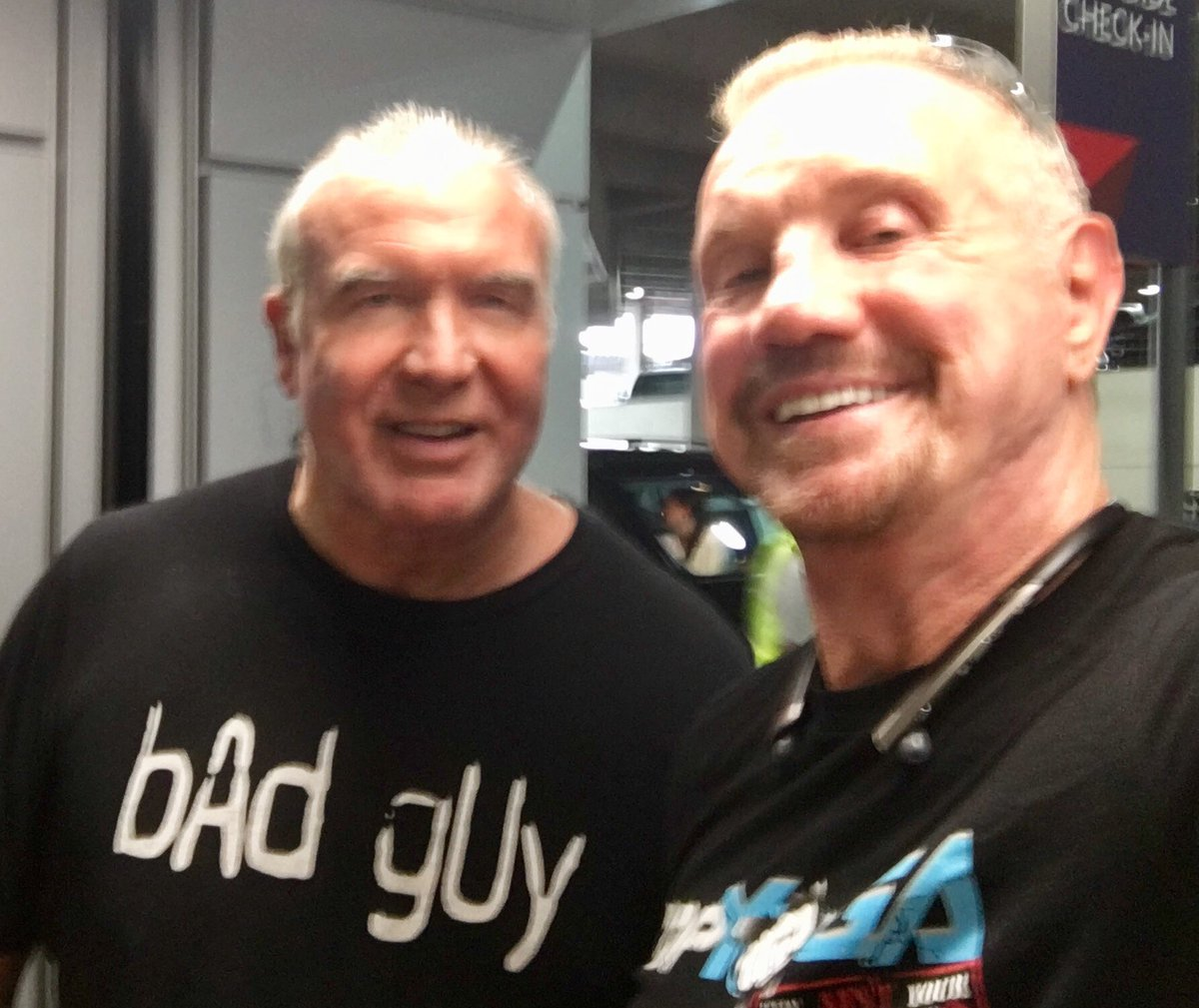 Heading down to @WWE Performance Center in Orlando to train The Boys & The Girls at #NXT #DDPY The Energy is going to be INSANE & look who I ran into @SCOTTHALLNWO The Bay GUY💥#WWEHOF #Bang @WWENetwork #wwe @DDPYoga #DDPYworks DDP