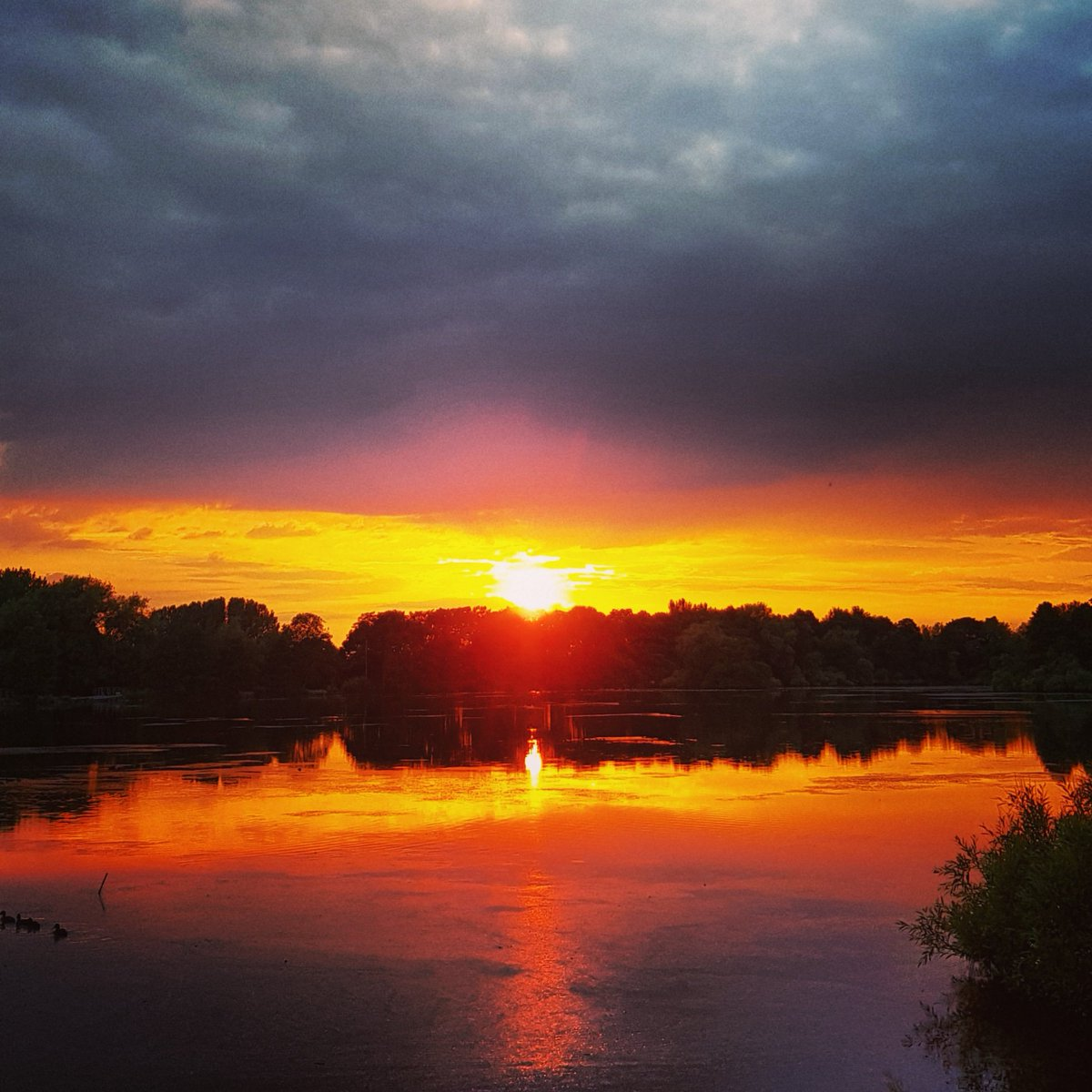 Alderley Park Mere and Stanley Monument sunset @AlderleyPark #stormhour #Sunset #sunsets<br>http://pic.twitter.com/dEBoeRZL9V
