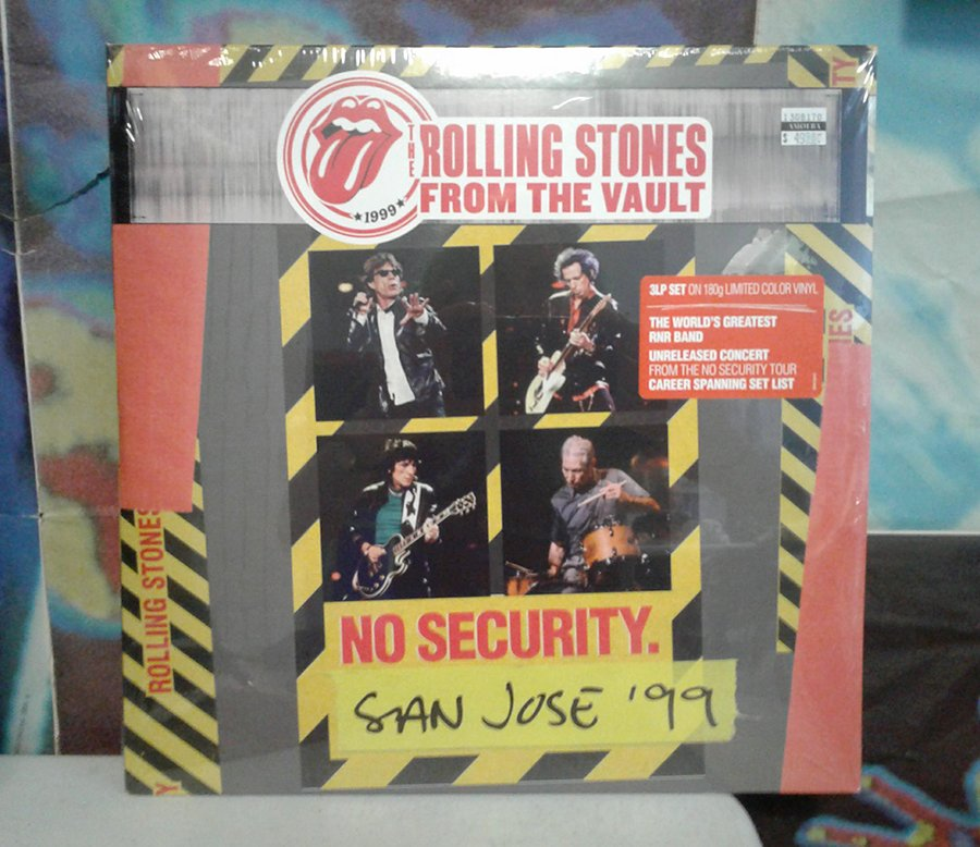 The @RollingStones' 'From The Vault: No Security. San Jose 99' is out now on yellow/black/red color triple vinyl as well as Blu-ray+2CD! LP: https://t.co/n8wPBupOgV Blu-ray: https://t.co/McDPOpNpRe