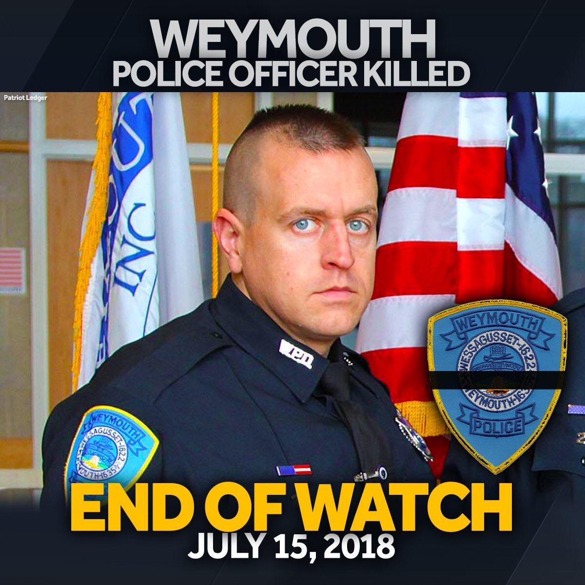 Rest in Peace brother, Michael Chesna. Thoughts, love, and prayers for your family, friends, and department.  @WeymouthPD<br>http://pic.twitter.com/CSAelnhBAw