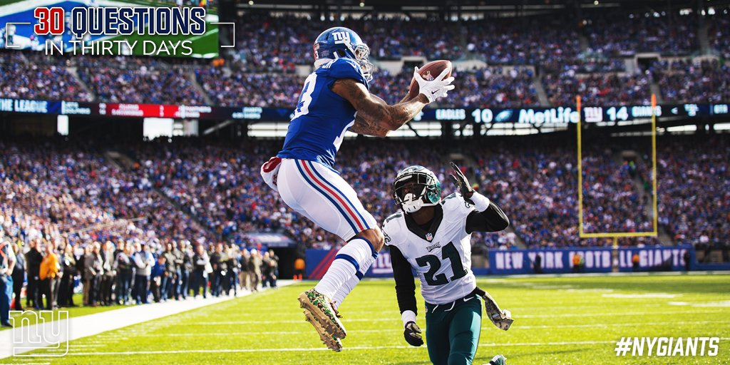 30❓in 30 Days: What is more likely -- OBJ leads the NFL in receiving yards or Saquon does it in rushing?  ➡️ https://t.co/N9G6C8XdLC