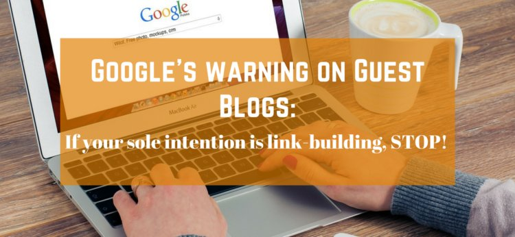 Google&#39;s warning on Guest Blogs: It should never just be about linkbuilding!  http:// sumo.ly/JxZE  &nbsp;  <br>http://pic.twitter.com/DLSUoOLgWv