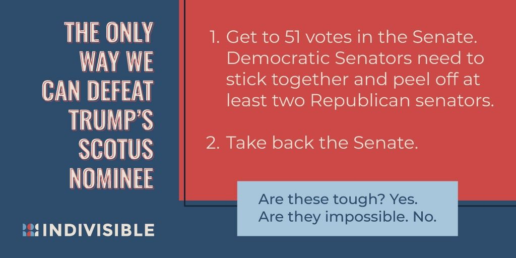 Conventional wisdom said that the resistance -- that you -- didn't stand a chance to defeat TrumpCare. We proved them wrong. Let's prove them wrong again. Here's how you can #SaveSCOTUS:  https:// buff.ly/2lLmk1I  &nbsp;  <br>http://pic.twitter.com/6gJjI6XilW