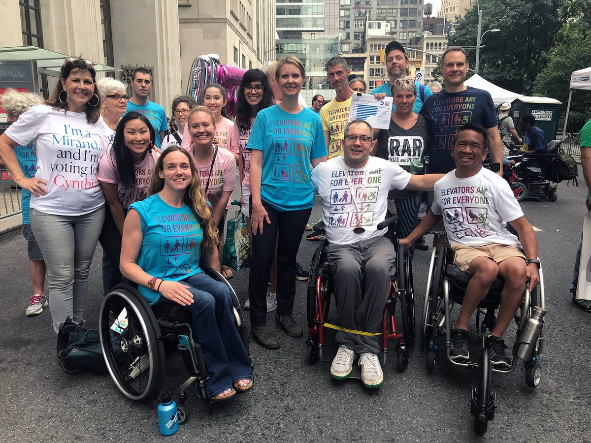 Today, I attended the #DisabilityPride parade to march alongside fellow New Yorkers promoting inclusion, awareness, and visibility of people with disabilities. <br>http://pic.twitter.com/VdGwdExJik