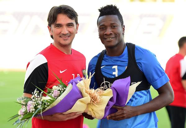 Croatia&#39;s head coach, Zlatko Dalic, was the last manager @ASAMOAH_GYAN3 worked with at Al-Ain. Quite a success story the pair shared, too, winning a couple of UAE titles together and making waves in the Champions League.<br>http://pic.twitter.com/tuIfelkqHM