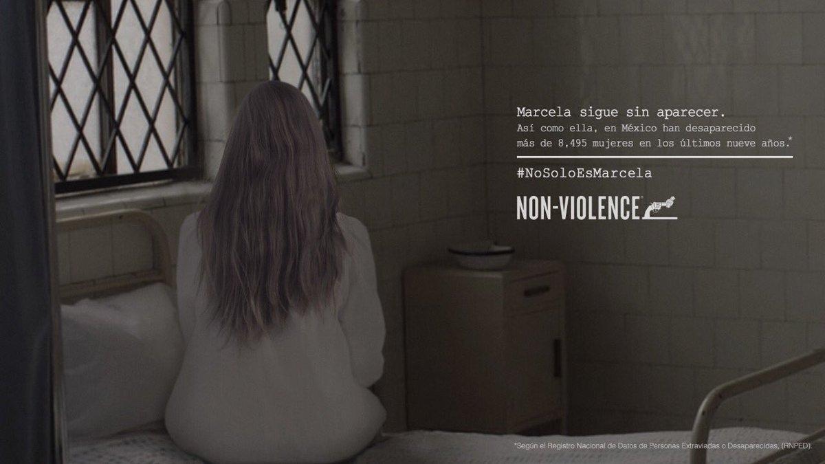 Resultado de imagen para non violence no solo es marcela