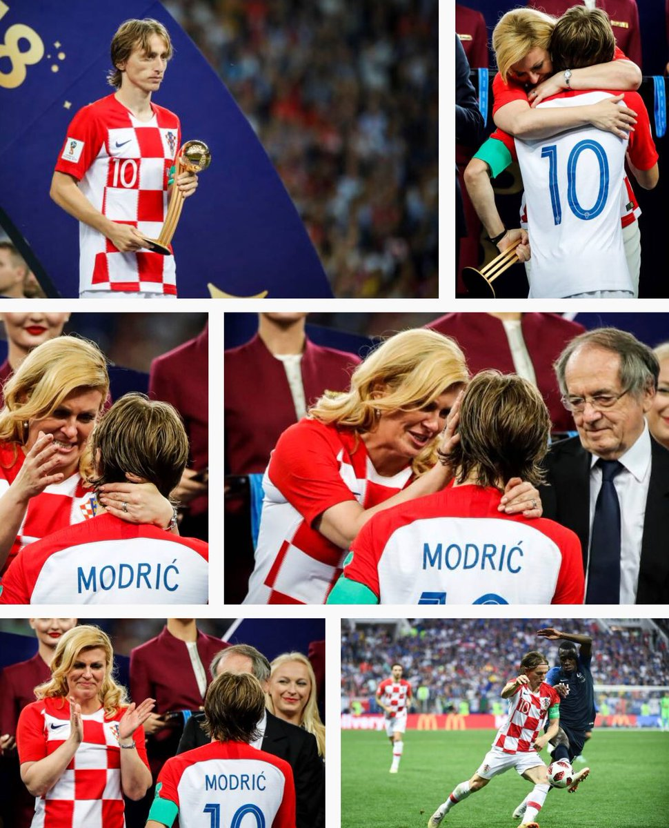The President of #CRO  in tears embracing Luka Modric. Special moment.<br>http://pic.twitter.com/TS2Ux4gQY4